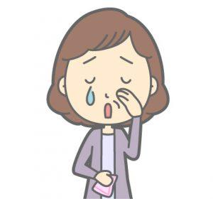 悲しむ女性のイメージイラスト