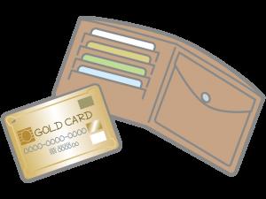 カード、現金のイラスト